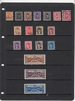 EGYPT Collection of 3 Part Sets .... 18 USED Stamps