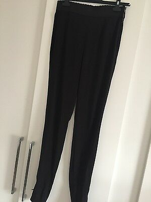 Womens black narrow leg Dolce & Gabanna trousers originally £408 size 10
