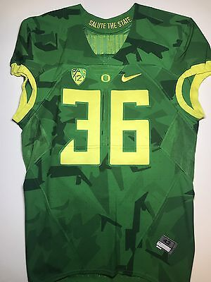 Oregon Ducks Authentic Nike Game Worn Jersey Civil War Salute The State RARE