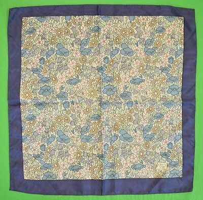 Liberty of London Blue & Pink Floral Print Pocket Square