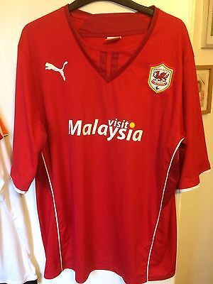 2013/2014 Cardiff City home football shirt Bluebirds XL men's Puma Red