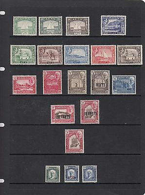 ADEN Stamps ..... Part Sets 1937 / 1939 Mint / Lightly Hinged