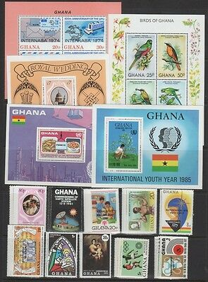 Ghana Stamp Collection —   (23)  Sets + (11) S/s — 1971   — Mint