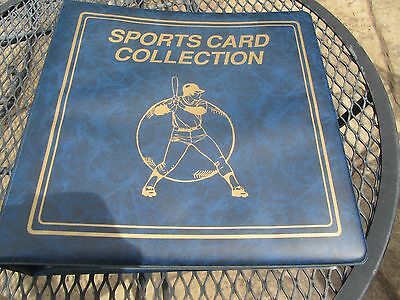 """Blue 3"""" 3-Ring Sports Card Binder Album w/ 55+ Ultra Pro Pages"""