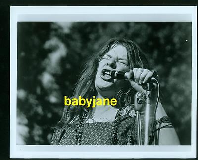Janis Joplin Vintage 8X10 Photo Singing At Concert 1974 Janis