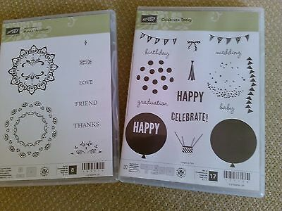 Collection of 2 sets of Stampin' Up! stamps