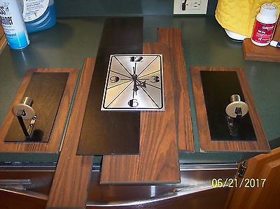 Vintage Mid Century Modern Verichron? Floating Panels Battery Wall Clock Candles