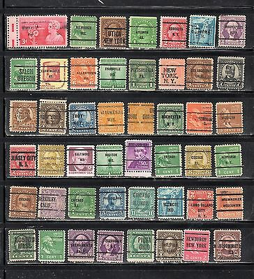 Lot Of Mixed Precancels Stamps United States Used Stamps Lot Pc 11014