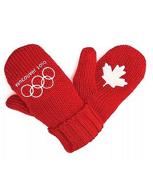 Vancouver 2010 Red Winter Olympic Mittens