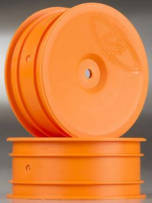 DE Racing DER-SB-AFO 1/10 Speedline Buggy Wheels Rims (2) B4.2/RB6 Front Orange