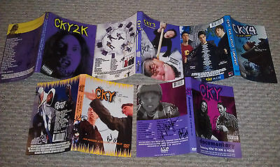 Cky Jackass Crew Signed Dvd Covers Bam Margera Ryan Dunn Rare & More Autograph