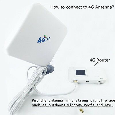 Bakeey 4G LTE Antenna 35dBi High Gain Mobile Signal Booster Amplifier TS9 For Hu
