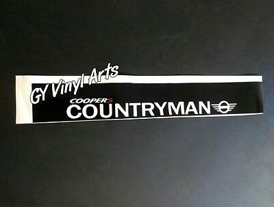 Countryman Mini Cooper Windshield Decals Sun Visor Strip Car Stickers Banners