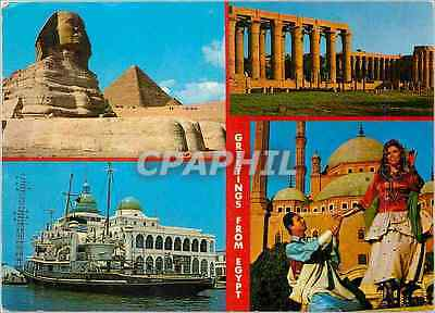 CPA Greetings From Egypt Giza The Sphinix and Keops Pyramid