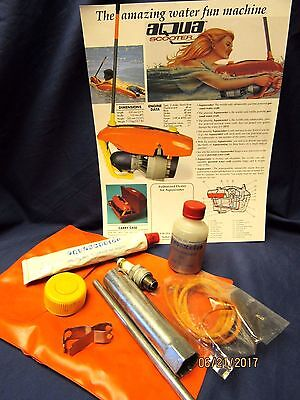 Vintage Scuba AquaScooter Flyer and Tool Kit