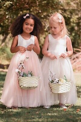 Flower Girl Dress Princess Vintage Special Occasion Party Wedding Lace 2 COLOURS