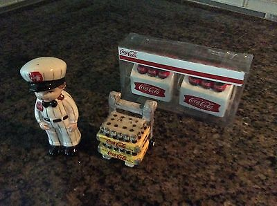 Coca Cola Salt And Peppers. 2 Sets