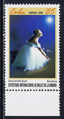 CaribbeanCuba #4632(2) 2006 85 cent 20th International Ballet ALONSO MNH