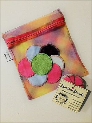 Rainbow Rounds - Reusable Makeup Wipes Eco Wipes Cotton Rounds