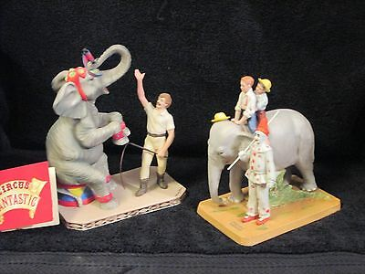 Norman Rockwell Circus Comes to Town Elephant Clown Figurine & Willitts Designs