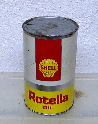 Vintage Shell Rotella motor oil tin can imperial quart garage display