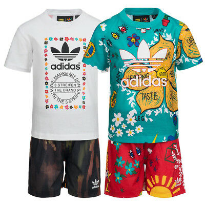 adidas Originals Pharrell Williams Kleinkinder Baby Set Shirt Shorts 2-teilig