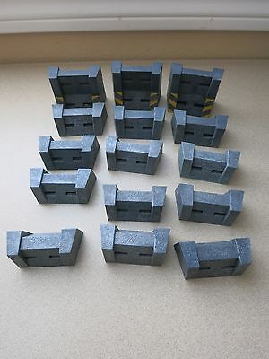 Wall Terrain pieces (15) from AT-43 Rackham Warhammer 40K