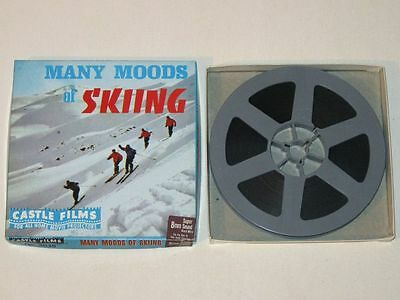 Vintage 1970s Castle Films The MANY MOODS of SKIING #3038 Super 8 Movie w Sound!