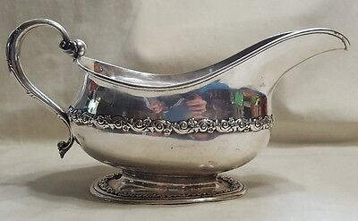 Tiffany Sterling Double Floral Band Gravy Boat ANTIQUE-EARLY 1900's