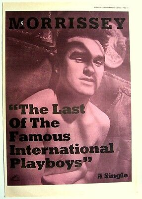 MORRISSEY 1989 Poster Ad THE LAST OF THE FAMOUS INTERNATIONAL PLAYBOYS