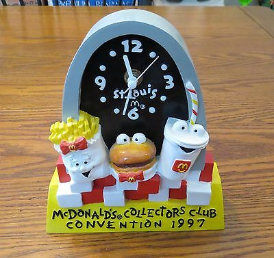 VINTAGE McDONALD'S RESTAURANT 1997 Collectors Club Convention CLOCK - WORKS