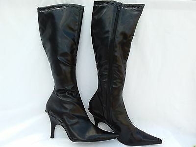 "DIBA - Women's Tall Black Leather 3"" Knee High Boots - Size 8B"