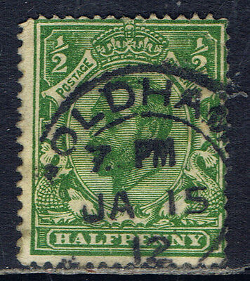 Great Britain #151(5) 1912 1/2 pence green King George V OLDHAM Cancel CV$4.50