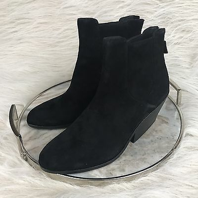 New Eileen Fisher Peer Bootie Ankle Boot Black Suede Size 9.5 US Womens