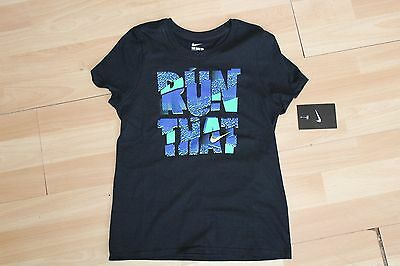 Nwt Girls Nike Sz Xl 16-18 Black Green Shirt
