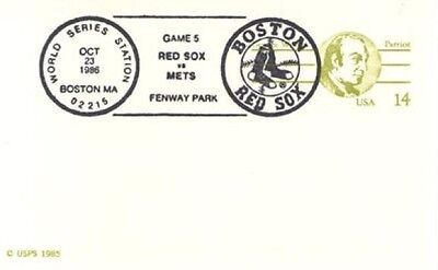 World Series 1986 Red Sox vs Mets Boston Ma. Baseball   Cancel
