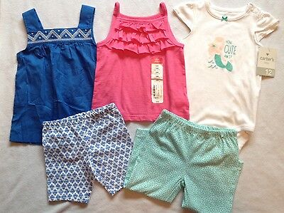 Carters Okie Dokie Girls 12 Months Outfit Lot NEW NWT Spring Summer Cute!