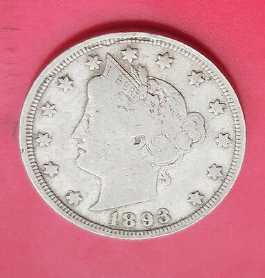 1893 5C Liberty Nickel, a FINE coin!