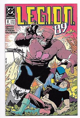 LEGION '89 6 SIGNED 2X BY KEVIN MAGUIRE & BARRY KITSON LOBO Vril Dox DC COMICS
