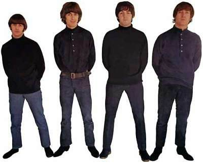 The Beatles Fab 4 Group Promo Shot 1965-1966 Window Cling Decal Sticker - NEW