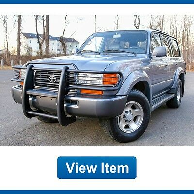 1996 Toyota Land Cruiser Base Sport Utility 4-Door 1996 Toyota Land Cruiser 4WD 3rd Row Southern Grill Guard CARFAX Clean fj80