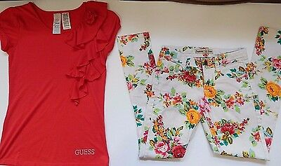 Girls Size 8 M Justice Imperial Star Outfit Set Jeans Pants & Shirt Top