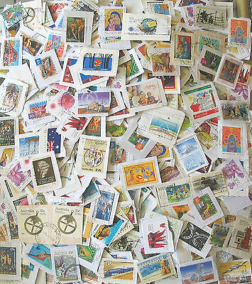 Australia Kiloware approx 450gm  used decimal  stamps,on paper.a