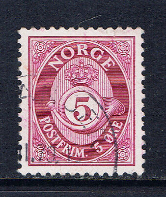 Norway #223(1) 1941 5 ore rose lilac POSTHORN Used