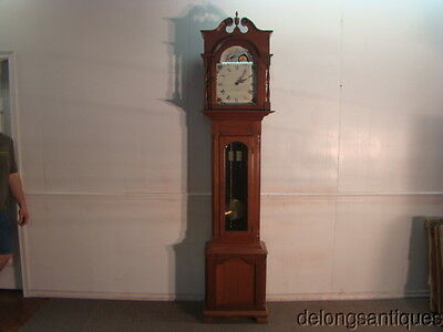 45400 Solid Cherry Cased Grandfathers Clock with a Krieninger Movement