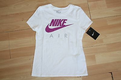 Nwt Girls Nike Sz L 12-14 White Purple Shirt