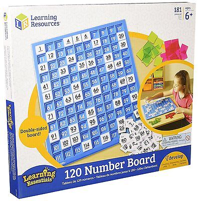 Learning Resources 120 Number Board Educational Mathematics Teaching Game Aids