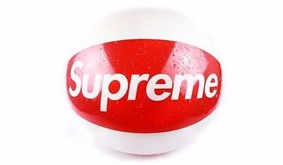 Supreme SS15 Inflatable Beach Ball Box Logo Red And White Swimming Ball - NEW