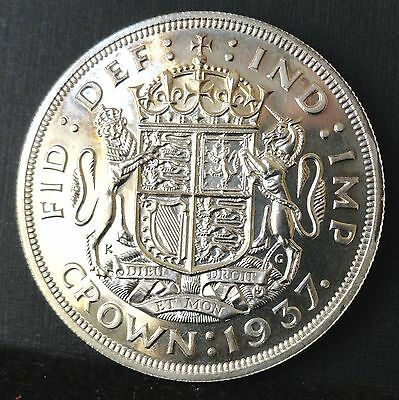 Great Britain,1937 Proof, Crown,   Silver