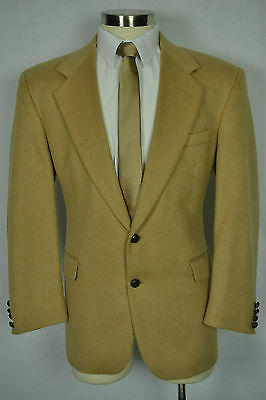 (41R) Men's Solid Brown 100% Camel Hair Classic Fit Sport Coat Blazer Jacket